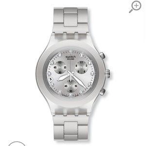 Swatch silver watch